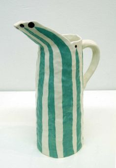 jug by Andrew Ludick. Ludick's work is included in the March 2015 issue of Ceramics Monthly. Porcelain Dinnerware, Porcelain Ceramics, China Porcelain, Dinnerware Sets, China Dinnerware, Ceramic Clay, Ceramic Pottery, Pottery Art, Slab Pottery