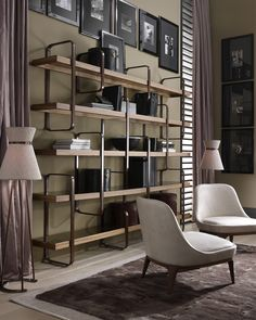 Ulivi Harmony Bookcase - modern - bookcases - new york - Nella Vetrina Cabinet Shelving, Bookcase Storage, Built In Shelves, Bookshelves, Contemporary Interior, Luxury Interior, Interior Architecture, Interior Design, Cabinet Furniture