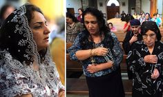 Praying for their lives: Iraqi Christians attend Sunday service