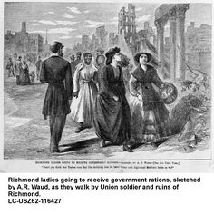 When the Confederate government evacuated Richmond, they authorized the burning of warehouses and supplies, which resulted in considerable damage to factories and houses in the business district.  https://itunes.apple.com/us/book/an-imperfect-union/id1023217358