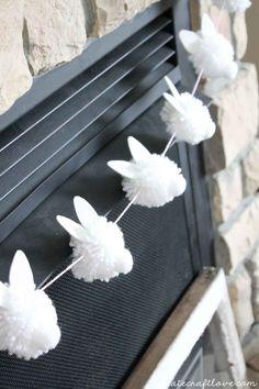 Bunny Pom Pom Garland