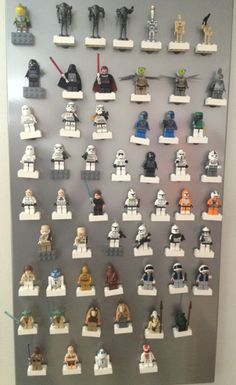 Clever, easy DIY Lego people display. I'd use disney characters though:)