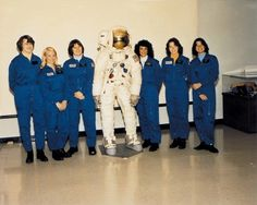 On January 16, 1978, NASA selected the first class with female astronaut candidates: Shannon Lucid, Margaret Rhea Seddon, Kathryn Sullivan, Judy Resnik, Anna Fisher, & Sally Ride. | Photo credit: NASA