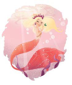 mermie & little fishie, by my lovely lady friend Liana Hee