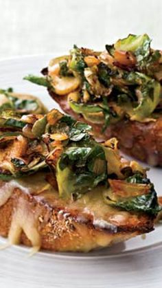 Brussels Sprouts and Smoky Onions on Cheddar Toast via @AOL_Lifestyle Read more: http://www.foodandwine.com/recipes/brussels-sprouts-and-smoky-onions-on-cheddar-toast