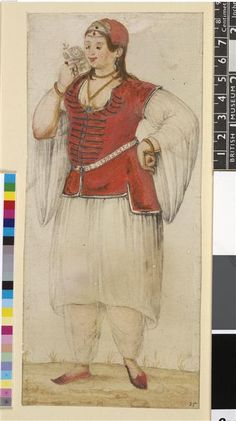 Greek woman by John White British Museum 16th Century Clothing, Empire Ottoman, 17th Century Art, Islamic World, Grand Palais, Greek Woman, Historical Clothing, British Museum, Gifts In A Mug