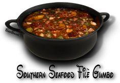 SOUTHERN SEAFOOD FILÈ GUMBO- http://www.thegutsygourmet.net/soul-gumbo.html. ☀CQ #southern #recipes