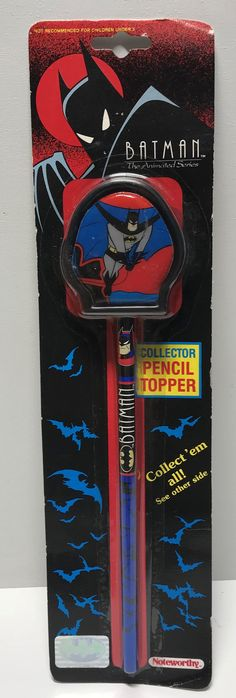 This just in at The Angry Spider Vintage Toy Store: TAS011215 - 1992 ...  Check it out here! http://theangryspider.com/products/tas011215-1992-batman-the-animated-series-collector-pencil-topper?utm_campaign=social_autopilot&utm_source=pin&utm_medium=pin