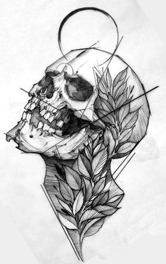 Most recent Pic ink drawing skull Concepts Learning tips on how to draw togethe. - Most recent Pic ink drawing skull Concepts Learning tips on how to draw together with toner very d - Skull Tattoo Design, Skull Tattoos, Body Art Tattoos, Tattoo Sketches, Drawing Sketches, Tattoo Drawings, Tattoo Pics, Tattoo Images, Tattoo Ideas