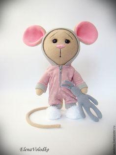 Игрушки животные, ручной работы. Заказать Пижамная мышка. Елена Володько. Ярмарка Мастеров. Мышка, ручная авторская работа,…