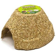 Hay Hut Natural Hideout 3pks, Ware Manufacturing -  Hay House is a safe chewable hideout for small pets. Made from a tasty combination of hay and a crunchy cellulose core, Hay House is the perfect place for pets to climb, chew, crawl, and crunch.      5.75 in W x 6.5 in D x 3.5 in H