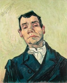 """Gogh, Vincent van. 1853–1890. """"Portrait of a man"""", Arles, December 1888. (Joseph-Michel Ginoux) © akg-images / André Held"""
