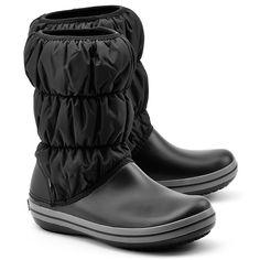 CROCS Winter Puff Boot - Czarne Nylonowe Śniegowce Damskie - Buty Kobiety Śniegowce   Mivo