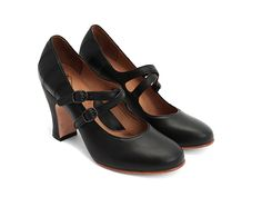 These totally remind me of my tap shoes! I can just see myself dancing down the street in them!