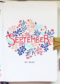 If you're looking for some September Bullet Journal Cover ideas, this post is PEREFCT for you! - september bullet journal cover easy, september bullet journal cover simple, september bullet… August Bullet Journal Cover, Bullet Journal Cover Ideas, Bullet Journal Hacks, Bullet Journal Mood, Bullet Journal Aesthetic, Bullet Journal Spread, Journal Covers, Bullet Journal Inspiration, Mood Tracker