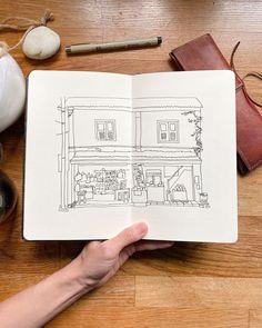 Sketching the everyday mundane Sketchbook Drawings, Sketching, My Journal, Journal Pages, Hobonichi, Travelers Notebook, Moleskine, Art, Art Background