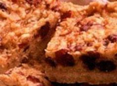 Coconut Cranberry Walnut Bars Cranberry Bars, Cat Cookies, Yummy Food, Yummy Recipes, 3 Ingredients, Just Desserts, Sweet Tooth, Coconut, Baking