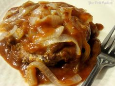 The Hen Basket: Hamburger Steak with Brown Gravy & Grilled Onions