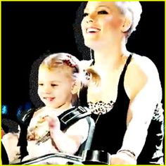 """Pink goes for a bicycle ride with her adorable two-year-old daughter Willow in the music video for her latest single """"True Love"""" featuring Lily Allen."""