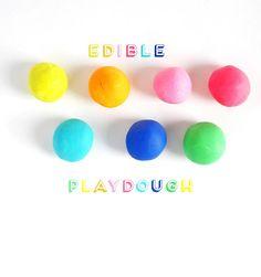 How To Make Colorful & Edible Homemade Playdough