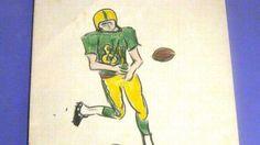 16 - Jimi Hendrix Drawing of USC Football Player
