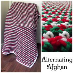 FREE crochet pattern for an Alternating Afghan by CrochetN'Crafts.