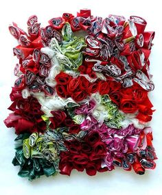15 plastic bags, sewn together with gestures of joy. Ines Seidel Source by gregsonc Fused Plastic, Recycled Plastic Bags, Plastic Art, Recycled Art, Plastic Bottles, Plastic Spoons, Design Textile, Textile Art, A Level Textiles