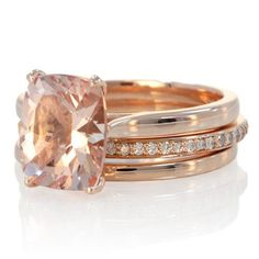 6 Top Engagement Ring Trends for 2015.  #rosegold wedding bands!  #Love
