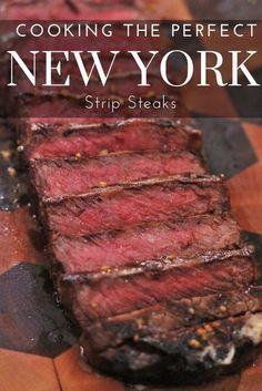 Strip steak is a simple steak to cook with amazing flavor. I'll teach you how to… Strip steak is a simple steak to cook with amazing flavor. I'll teach you how to grill up this better than restaurant quality New York Strip Steak in your own backyard! Strip Steak Recipe Oven, Strip Steak Marinade, Ny Strip Steak, Best Steak For Grilling, Steak Strips, Bbq Grill, Grilled Steak Recipes, Grilling Recipes, Skinny