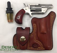 1911 Holster, Pocket Holster, Holsters, Natural Leather, Tan Leather, Cross Draw Holster, Revolver Pistol, Revolvers, North American Arms
