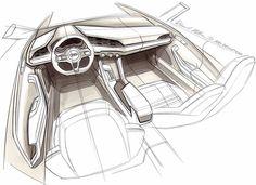 hinter den kulissen im audi concept design studio - Cars - Auto Audi Interior, Car Interior Sketch, Car Interior Design, Interior Design Sketches, Car Design Sketch, Car Sketch, Automotive Design, Design Cars, Auto Design