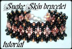 Snake+Skin+bracelet+Beading+Pattern+PDF+bracelet++by+Shinkabeads,+$6.55