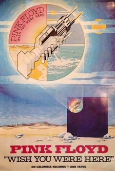 """""""Pink Floyd, US poster for their Wish You Where Here album 1975 """""""
