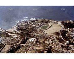 Vista Aérea del Estadio de Playa Ancha Año 1960 Fuente: Fotografía Patrimonial M.H.N: Chile, Nature, Travel, Parks, Beach, Voyage, Trips, Viajes, Chili