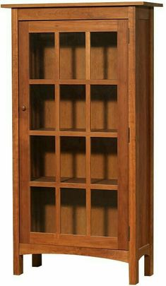 Vermont Made Wooden Shaker Bookcase with Glass Doors Furniture Projects, Wood Projects, Diy Furniture, Woodworking Furniture, Woodworking Plans, Craftsman Style Furniture, Bookcase Plans, Carpentry And Joinery, Cherry Furniture