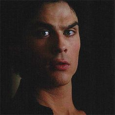 I love the small smile on Damon's face when he realizes Elena has been watching him.