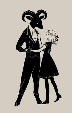 "spiritscraft: "" fairytalemood: "" art by tono "" Me honestly "" Character Inspiration, Character Art, Character Design, Arte Horror, Horror Art, Arte Indie, The Ancient Magus Bride, Satanic Art, Scary Art"