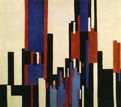 Vertical Plains Blue and Red - Frantisek Kupka
