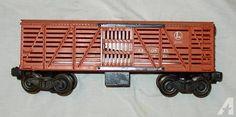 Lionel O Gauge Orange Stock Cattle Car 3656 Post War Train Car