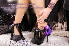 Diva In Purple --  If you like what you see, check out our webshops for more!   www.stilettodress.com --  www.etsy.com/shop/StilettoDress