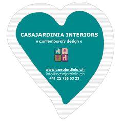 Sachets de sucre publicitaires en forme de cœur Casajardina Interiors  Réalisation: www.publigestion.ch