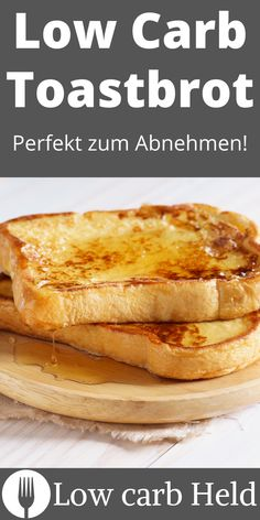 Hmm..dieses Low Carb Toastbrot ist perfekt zum Abnehmen. Super lecker und einfach! Low Carb Desserts, Held, Super, Food To Make, French Toast, Breakfast, Recipes, Lose Belly Fat, Loosing Weight
