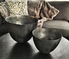 Silver glaze bowls