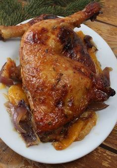 Boldog Kukta: Narancsos - mézes csirkecombok Meat Recipes, Baking Recipes, Chicken Recipes, Honey Chicken, Bbq Chicken, Chicken Legs, Low Calorie Dinners, Good Food, Yummy Food