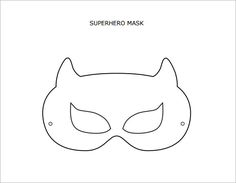Printable Superhero Mask Template  Disfraces Sper Heroes