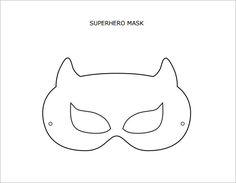 Printable Superhero Mask Template  Disfraces Sper Heroes
