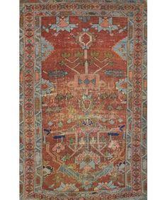 PERSIAN HERIZ RUG - Antique Rugs - $1,800.00 - Carpet Culture   Rug Store in Manhattan   Carpet Cleaners - ON SALE!
