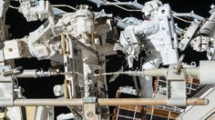 ESA astronaut Thomas Pesquet completed his second spacewalk on Friday, 24 March 2017 along with NASA astronaut Shane Kimbrough. NASA astronaut Peggy Whitson remained inside to help the duo suit up, exit and reenter the Station.