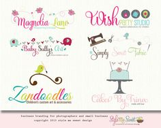 Custom Loto Design By Style Me Sweet Design - Three Concept Branding Package, Free Business Card Design Included with Purchase:)