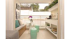Banco/baú que tenha espaço para colocar sapatos e plantas para meu terraço.